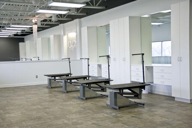 Rio grooming school grooming tables